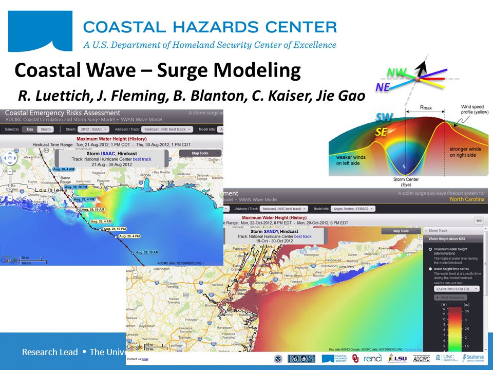 Research Lead  The University of North Carolina at Chapel Hill CHC-R 5 th Annual Meeting January 31-February 1, 2013 Project Overview Advance the state of the art in coupled wave – surge – inundation modeling Use state of the art in coupled wave – surge – inundation modeling to meet operational needs Disseminate / train community in the state of the art in coupled wave – surge – inundation modeling.