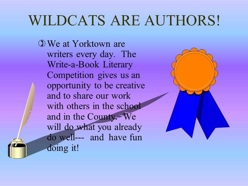 2012-13 WRITE-A-BOOK LITERARY COMPETITION