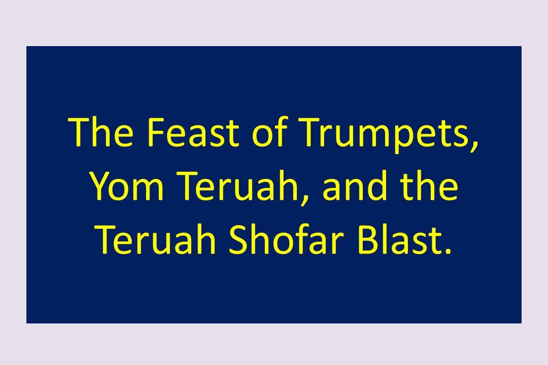 The Feast of Trumpets, Yom Teruah, and the Teruah Shofar Blast.