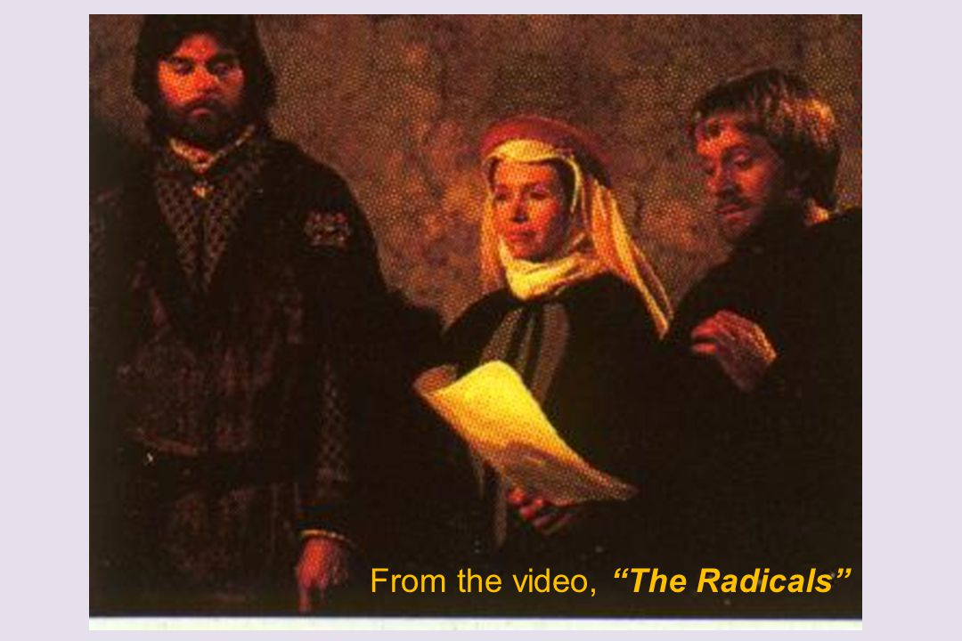 """From the video, """"The Radicals"""""""