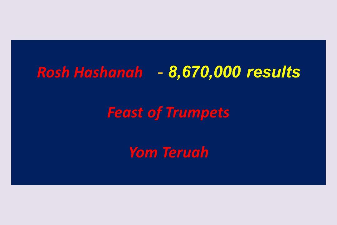Rosh Hashanah - 8,670,000 results Feast of Trumpets Yom Teruah