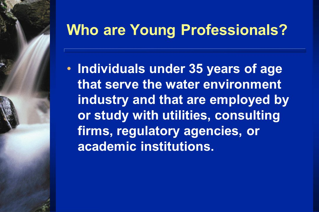 Who are Young Professionals.