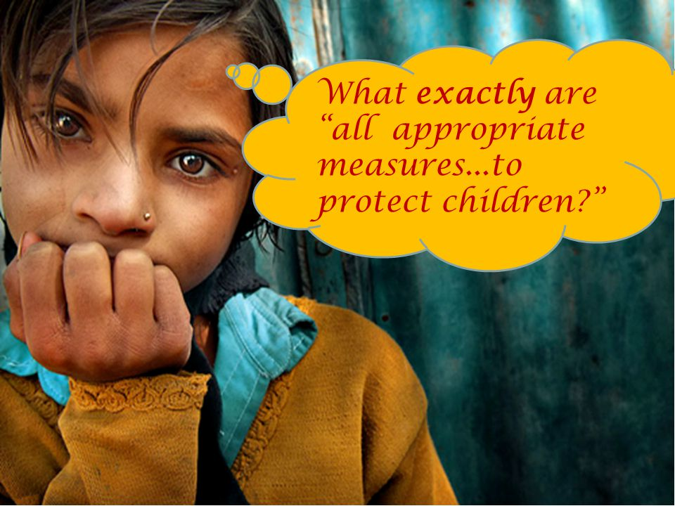 8 What exactly are all appropriate measures...to protect children?