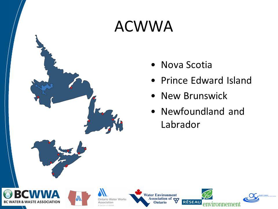 ACWWA Nova Scotia Prince Edward Island New Brunswick Newfoundland and Labrador