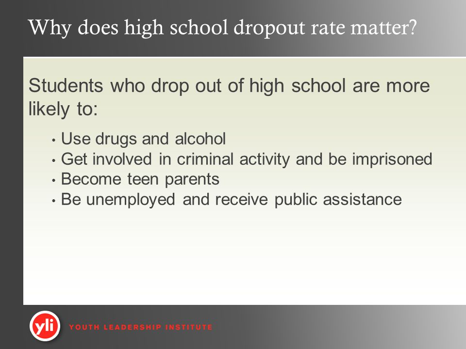 Why does high school dropout rate matter.