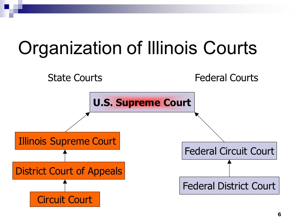 6 Organization of Illinois Courts U.S.
