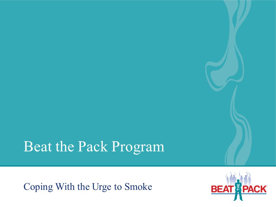 Beat the Pack Program Coping With the Urge to Smoke