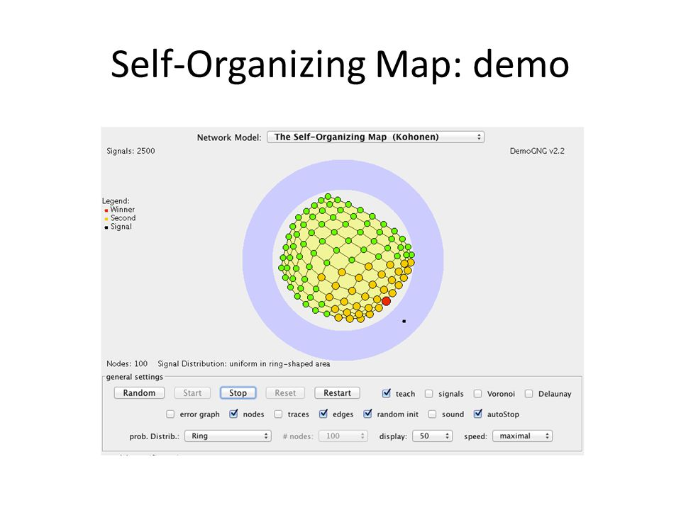 Self-Organizing Map: demo