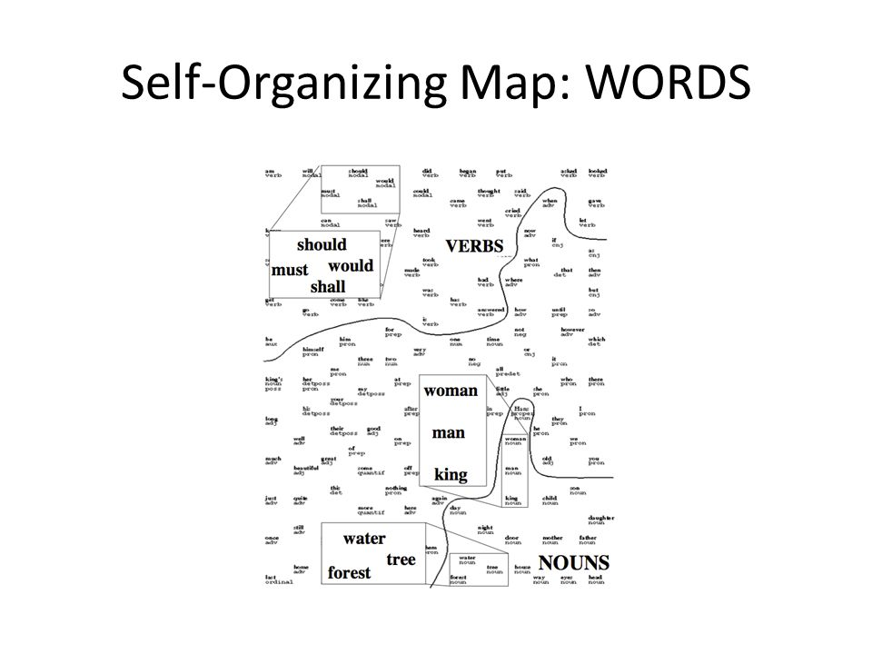Self-Organizing Map: WORDS