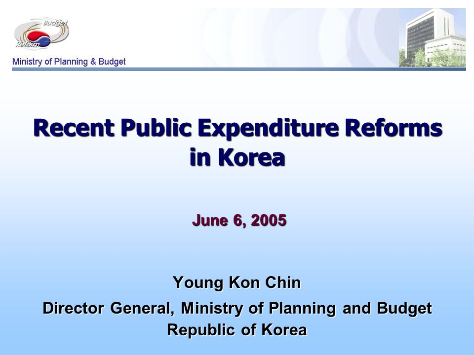 Contents I.Background 1. Current Situation 2. Changes in the Fiscal Management Environment II.