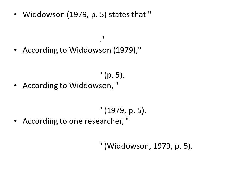Widdowson (1979, p.