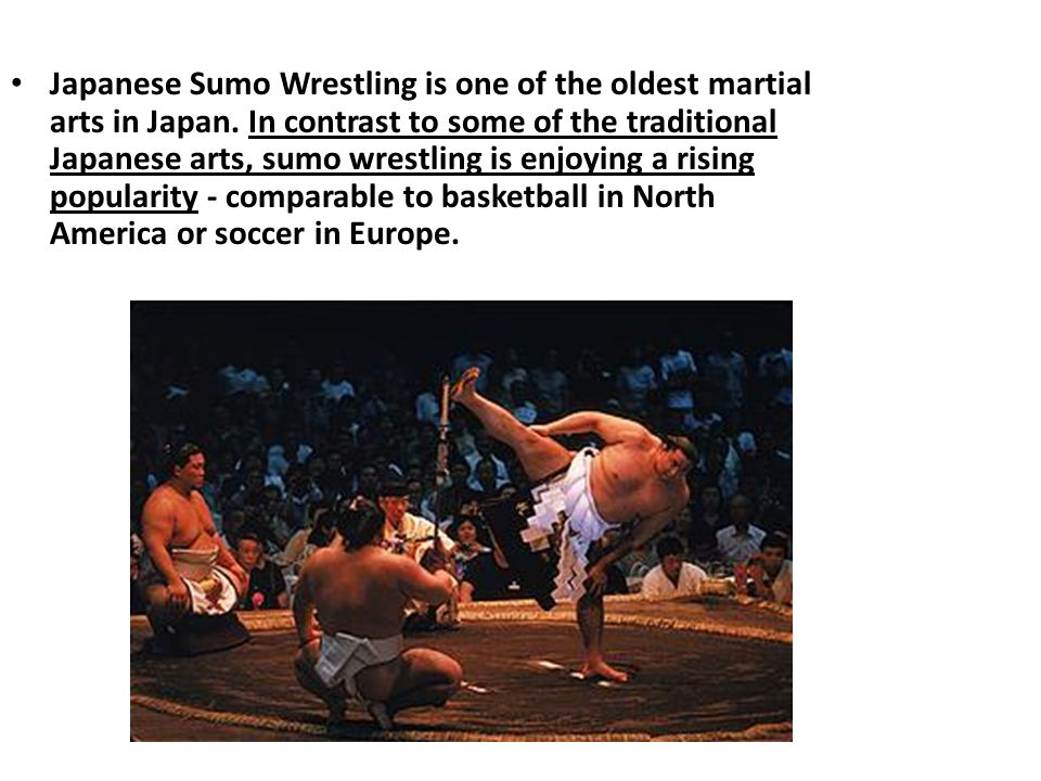 Japanese Sumo Wrestling is one of the oldest martial arts in Japan.