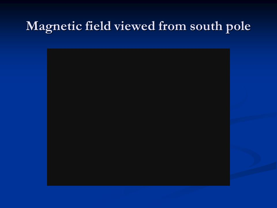 Magnetic field viewed from south pole