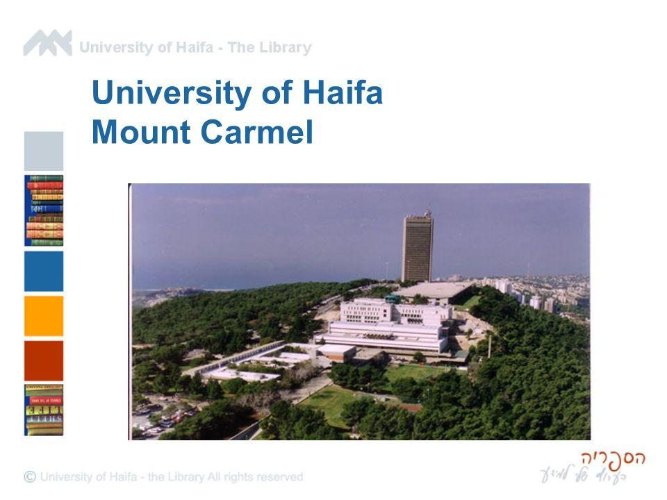 University of Haifa Mount Carmel
