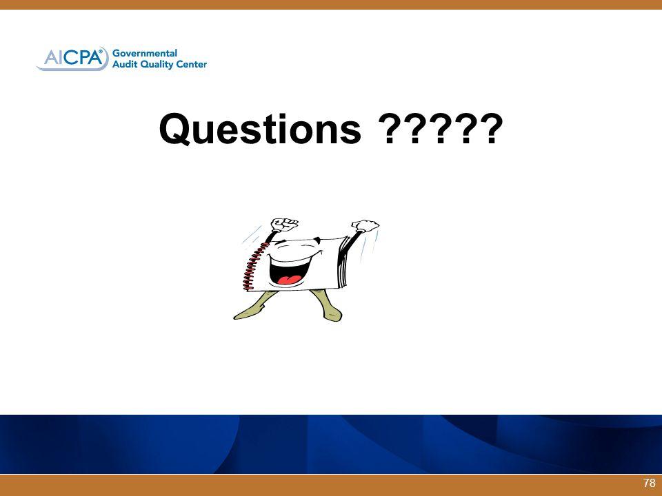 Questions ????? 78