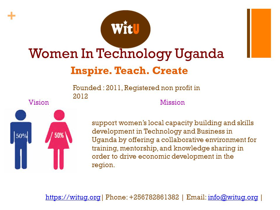 + Women In Technology Uganda Inspire. Teach.