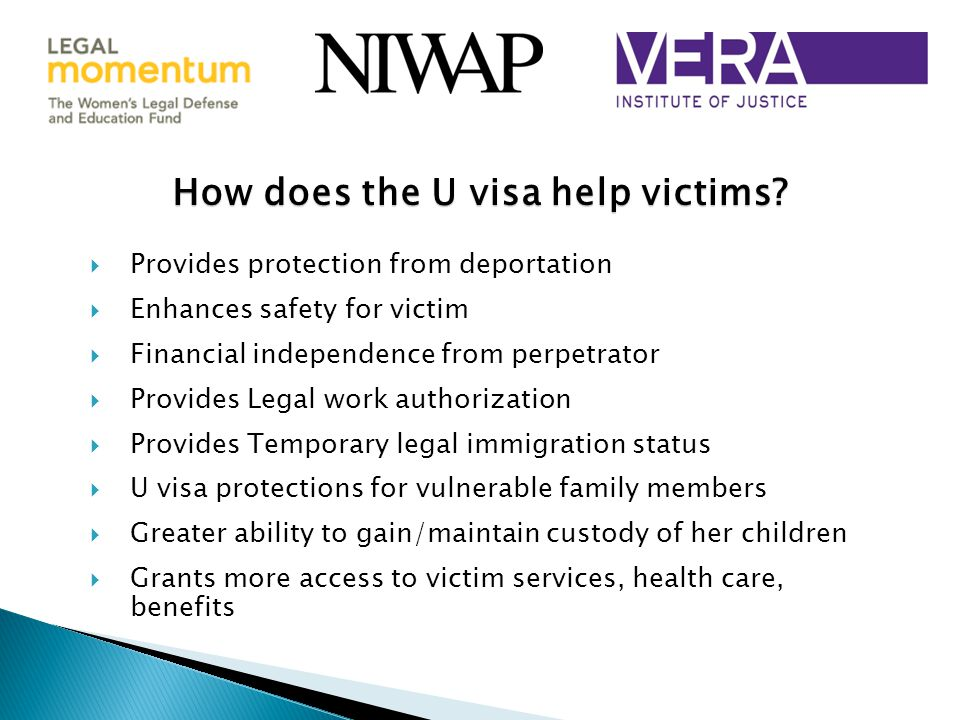 How does the U visa help victims.
