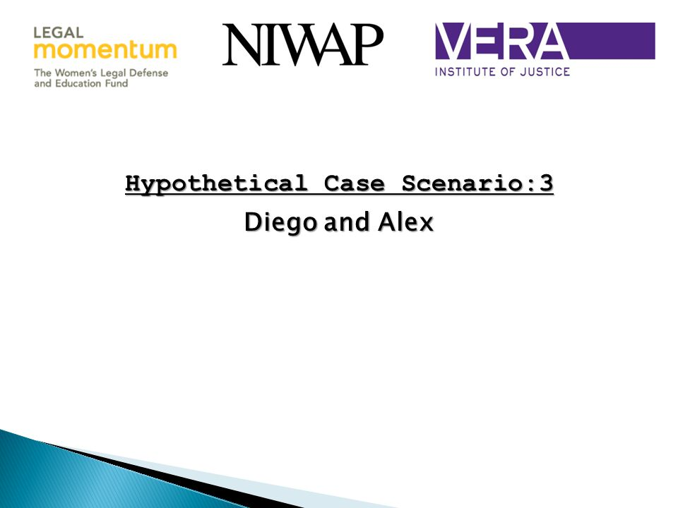 Hypothetical Case Scenario:3 Diego and Alex Diego and Alex