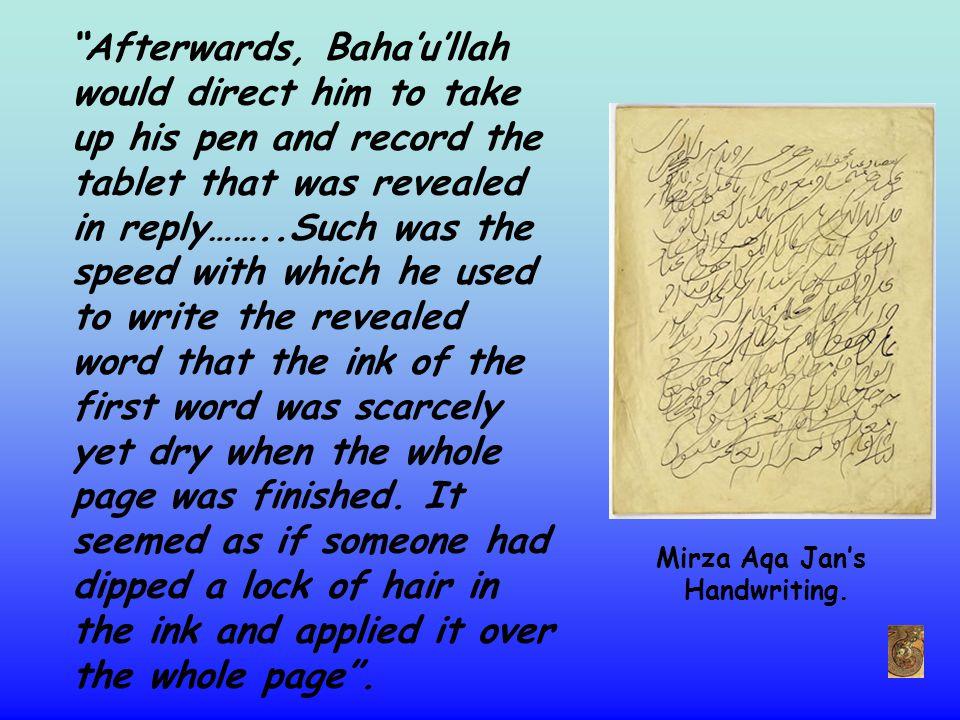 This is an example of Baha'u'llah's own handwriting.