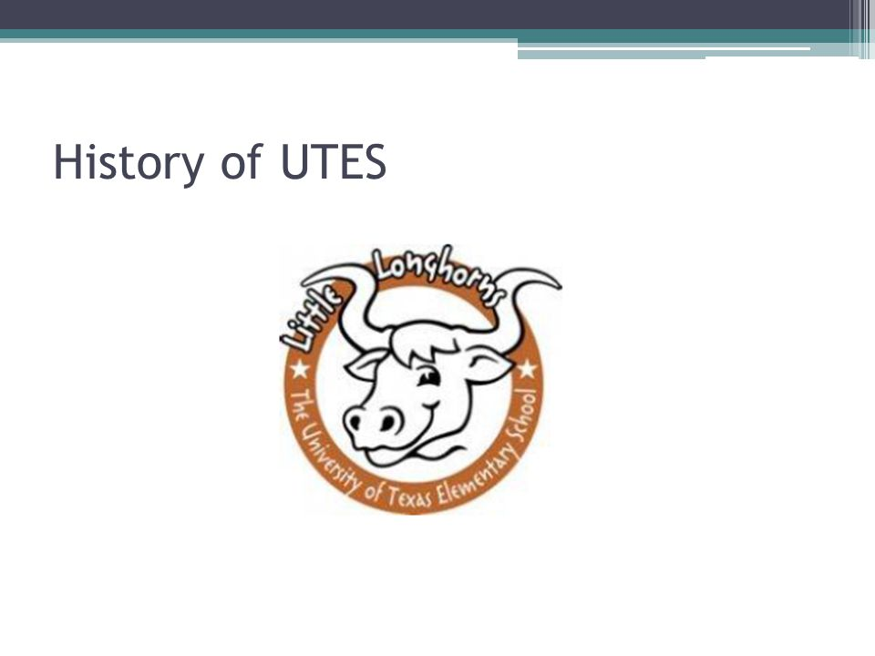 History of UTES