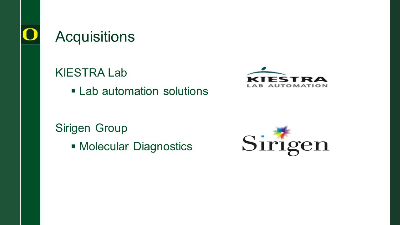 Acquisitions KIESTRA Lab  Lab automation solutions Sirigen Group  Molecular Diagnostics