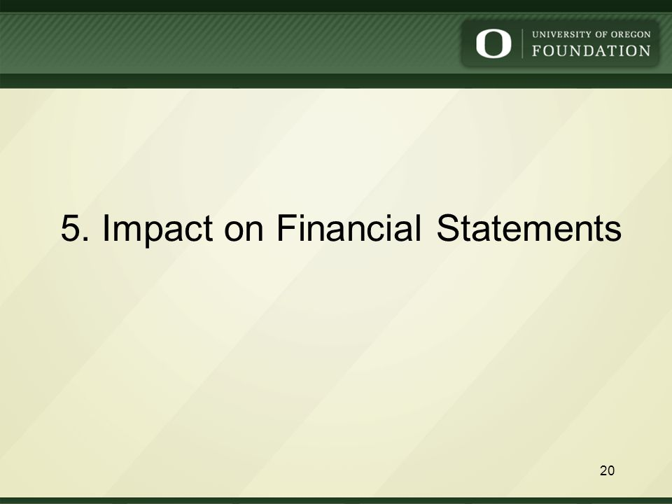 5. Impact on Financial Statements 20