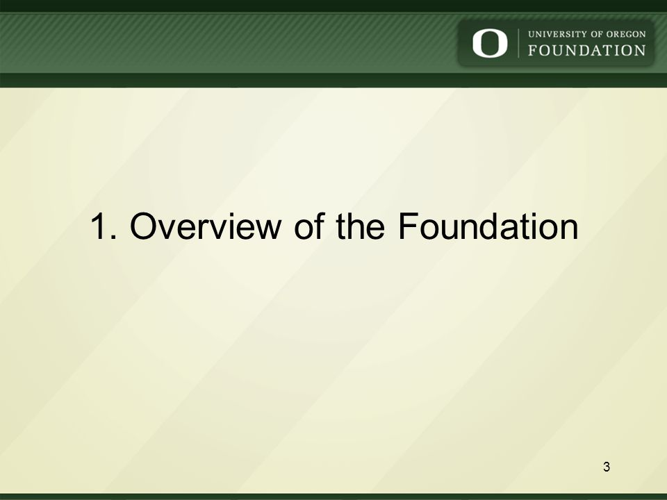 1. Overview of the Foundation 3