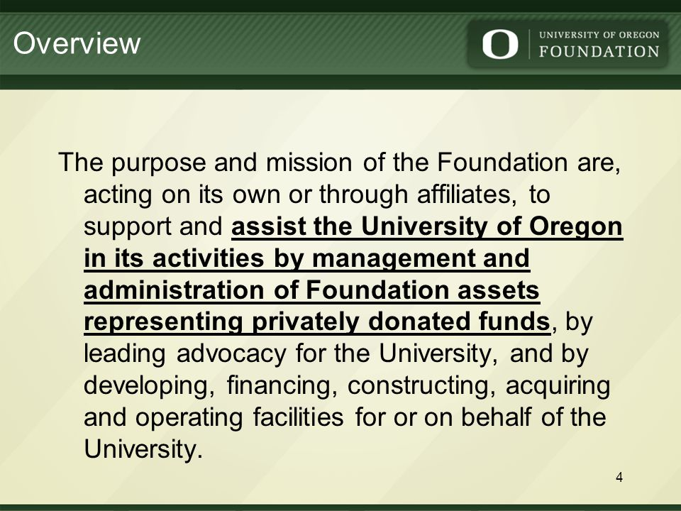 4. Define and discuss Foundation-controlled Activities 15