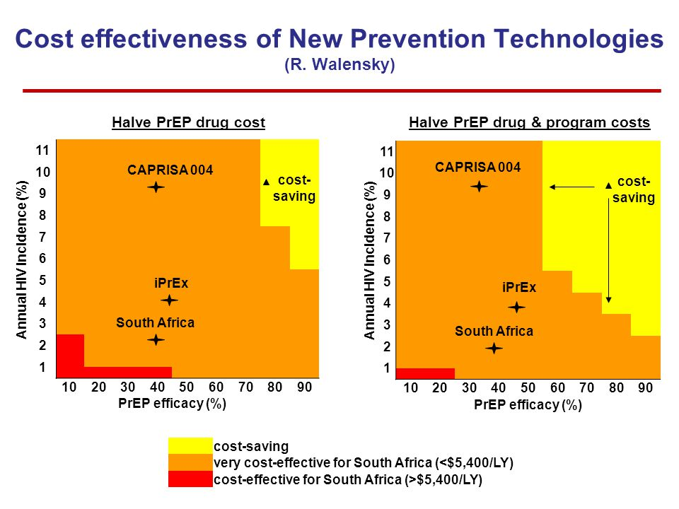 Cost effectiveness of New Prevention Technologies (R.
