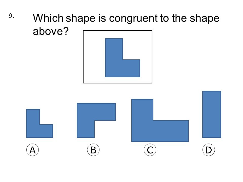 10.Students in math class were sorting shapes.