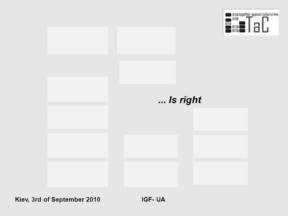 ... Is right Kiev, 3rd of September 2010 IGF- UA