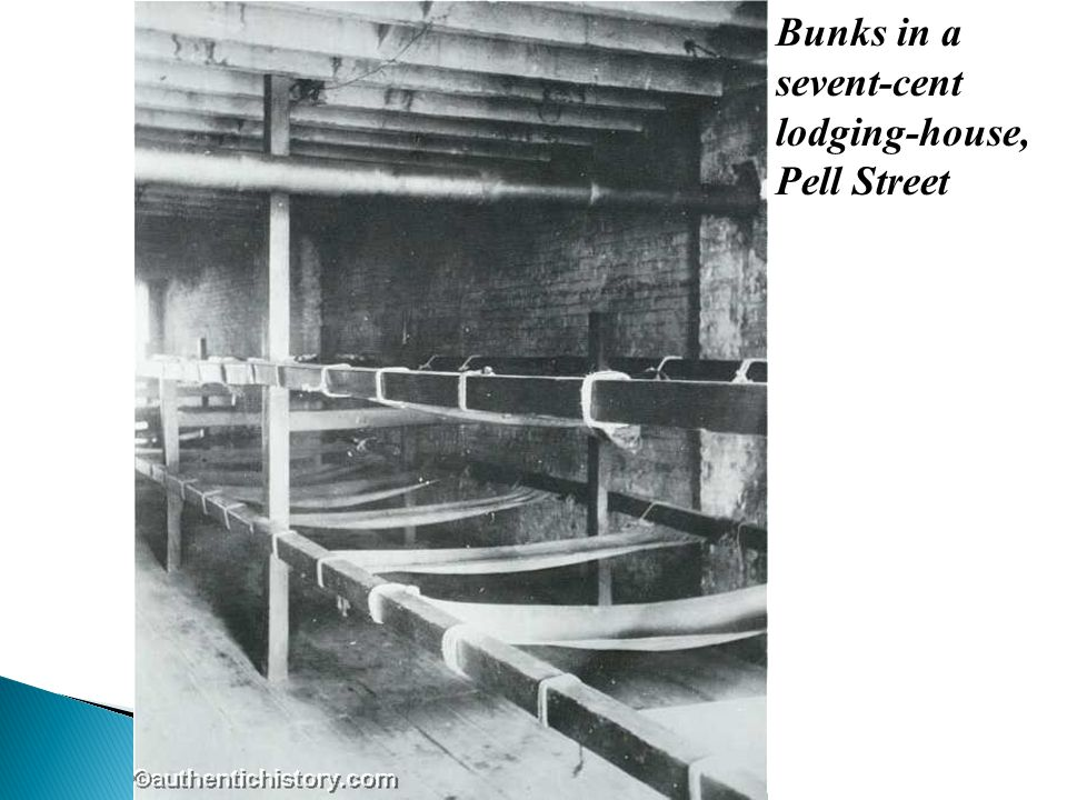 Bunks in a sevent-cent lodging-house, Pell Street