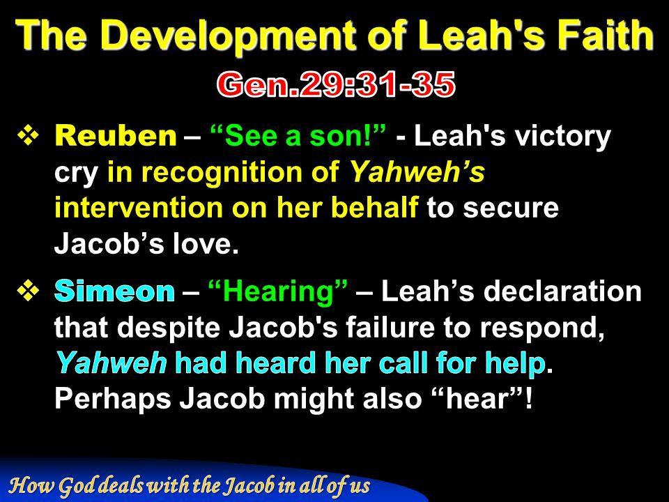 The Development of Leah s Faith