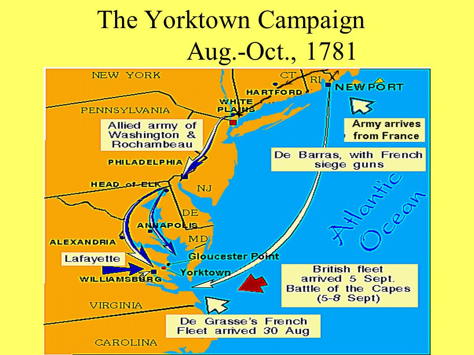 The Yorktown Campaign Aug.-Oct., 1781