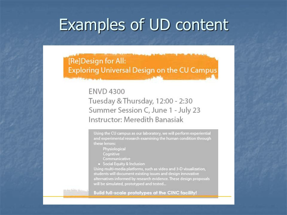 Examples of UD content
