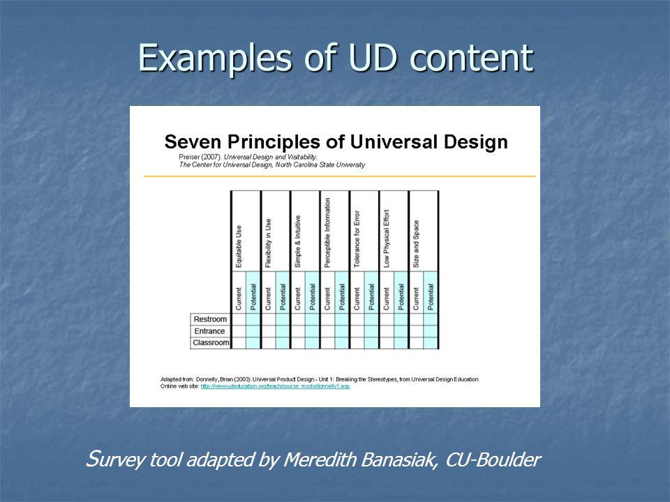 S urvey tool adapted by Meredith Banasiak, CU-Boulder