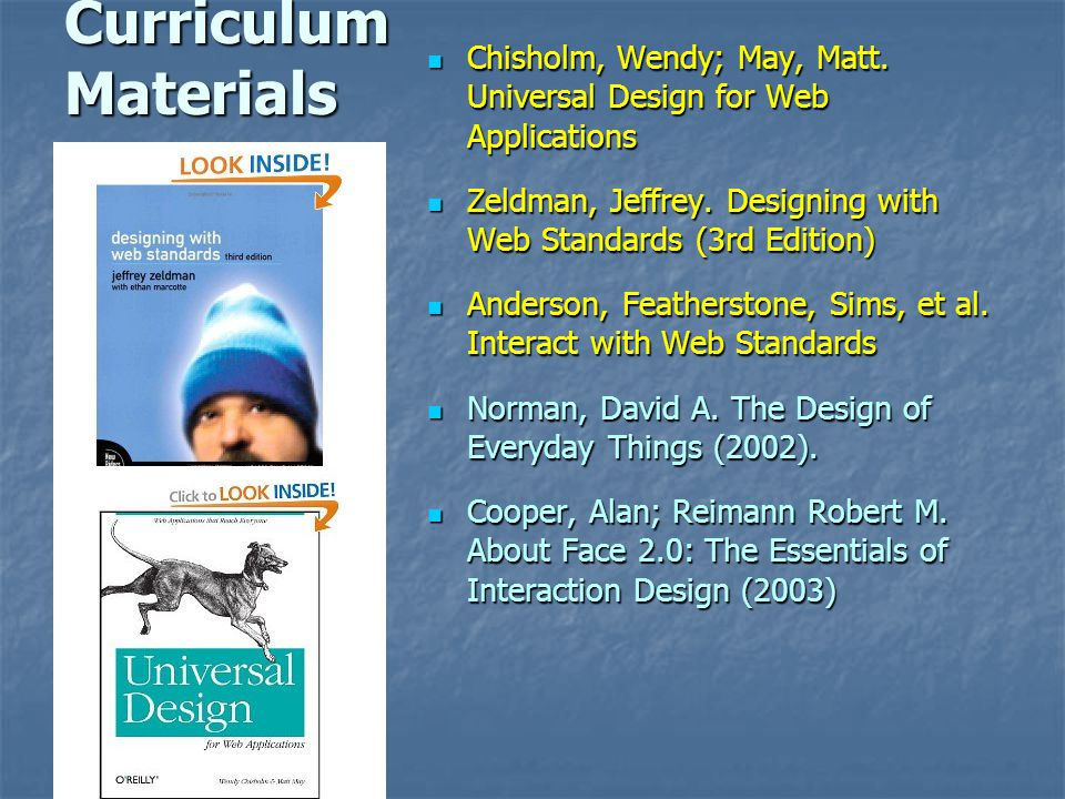 Curriculum Materials Chisholm, Wendy; May, Matt.