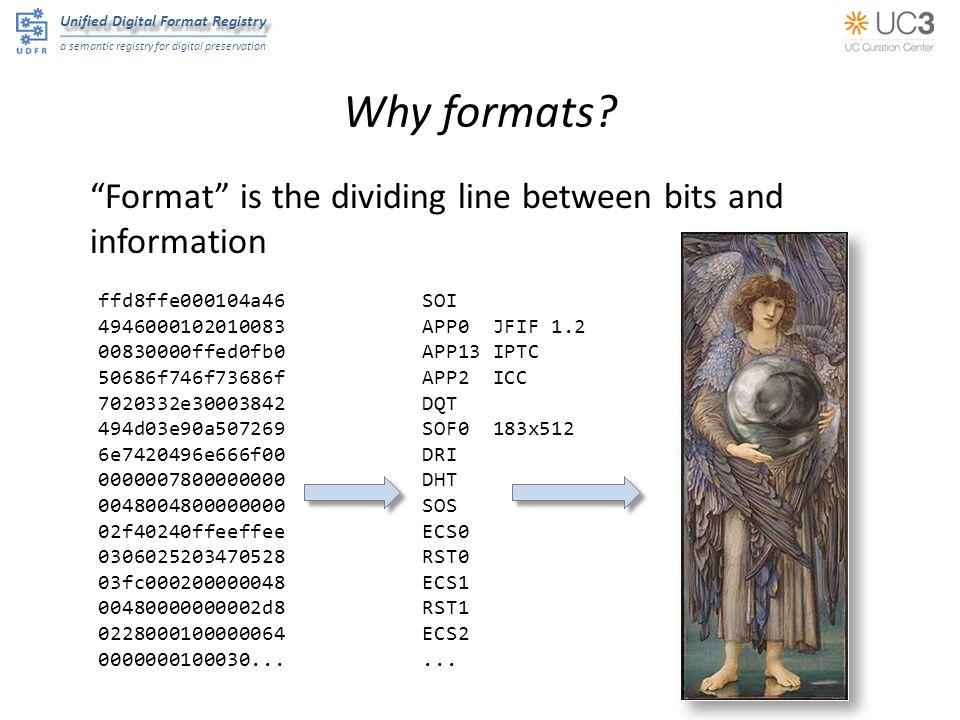 """Unified Digital Format Registry a semantic registry for digital preservation Why formats? """"Format"""" is the dividing line between bits and information f"""