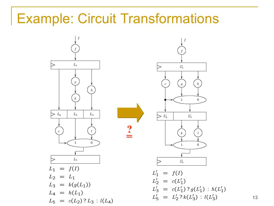 13 Example: Circuit Transformations =