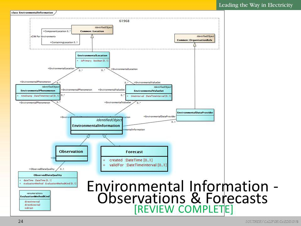 SOUTHERN CALIFORNIA EDISON® 24 Environmental Information - Observations & Forecasts [REVIEW COMPLETE]