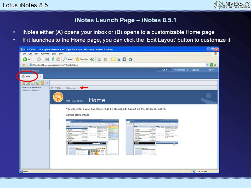 Lotus Notes 8.5 Upgrade Lotus iNotes 8.5 Working with the Calendar Meeting invitation with invitees, rooms and resourcesMeeting invitation with invitees, rooms and resources Click Save & Send when finishedClick Save & Send when finished