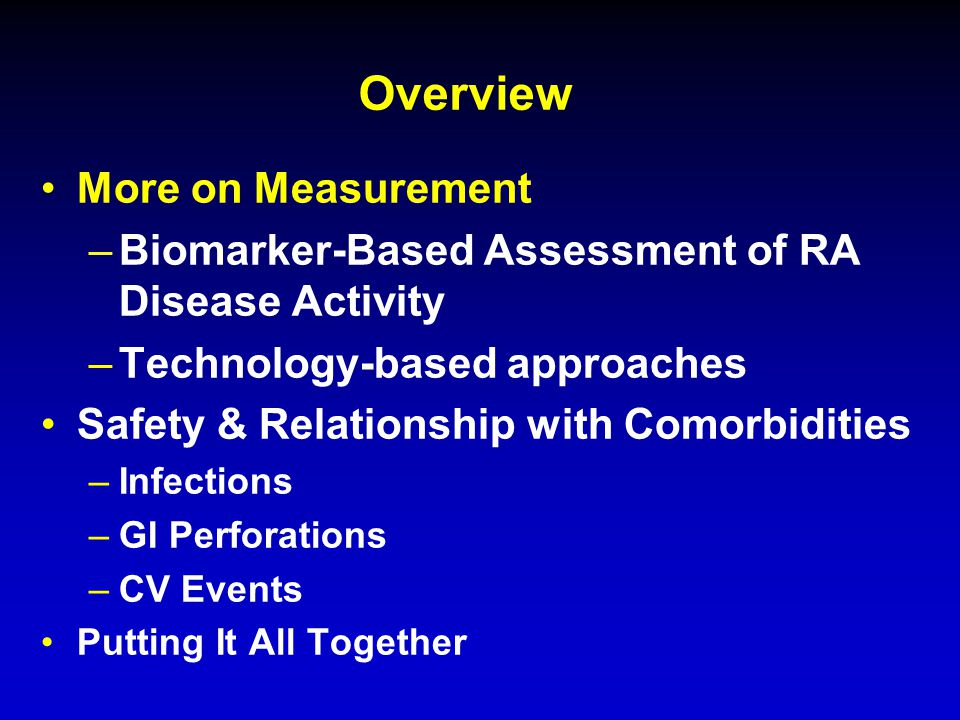 Which Biomarkers Might be Important in RA.