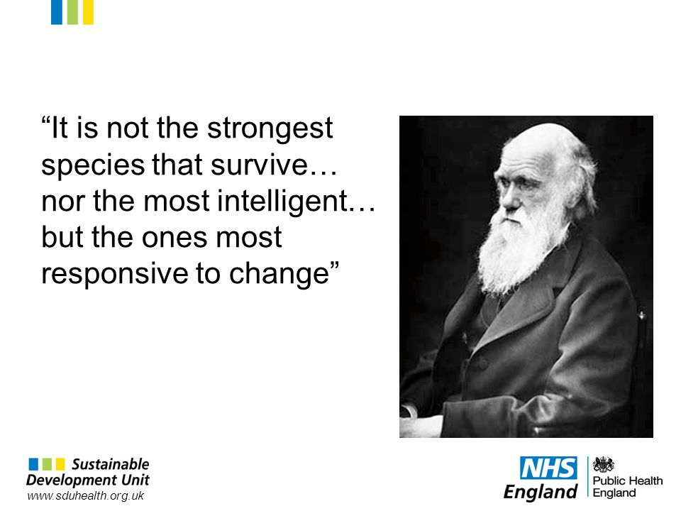 It is not the strongest species that survive… nor the most intelligent… but the ones most responsive to change