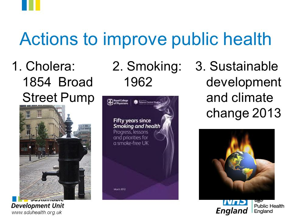 www.sduhealth.org.uk Actions to improve public health 1.