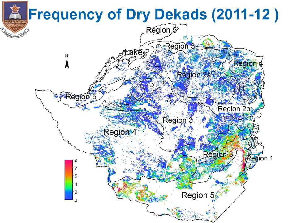 Frequency of Dry Dekads (2011-12 )