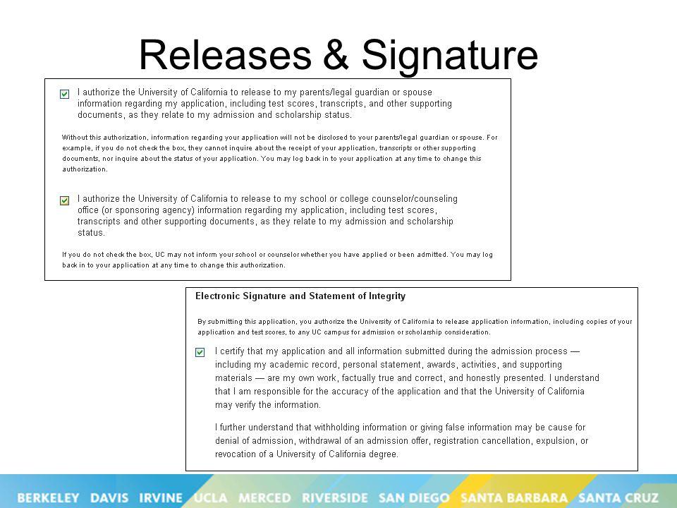 Releases & Signature