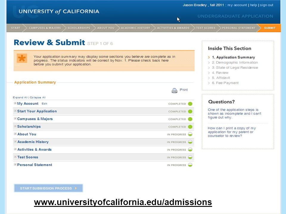 19 www.universityofcalifornia.edu/admissions