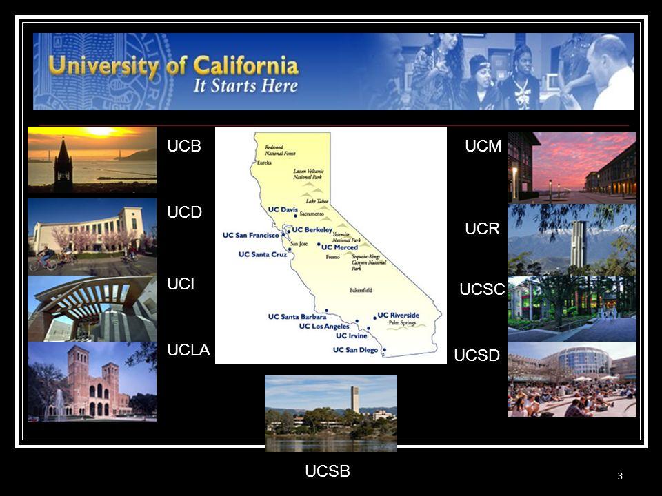 3 UCB UCD UCI UCLA UCM UCR UCSB UCSC UCSD