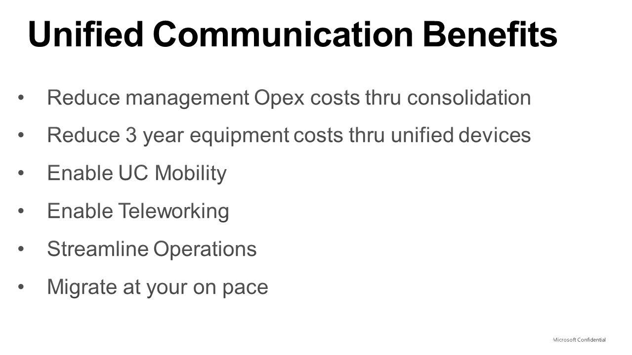 Unified Communication Benefits