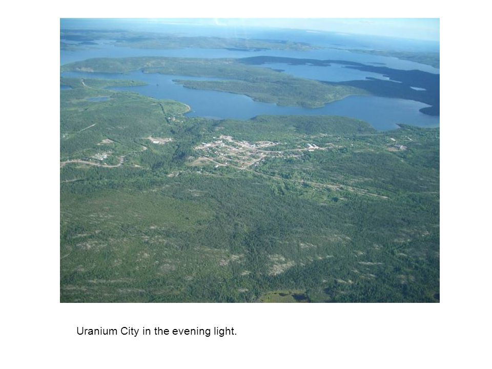 Uranium City in the evening light.